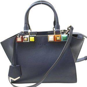 Auth Fendi Mini Crossbody Bag Jours Blue #N8594E27